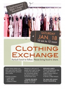 Clothing Exchange Poster